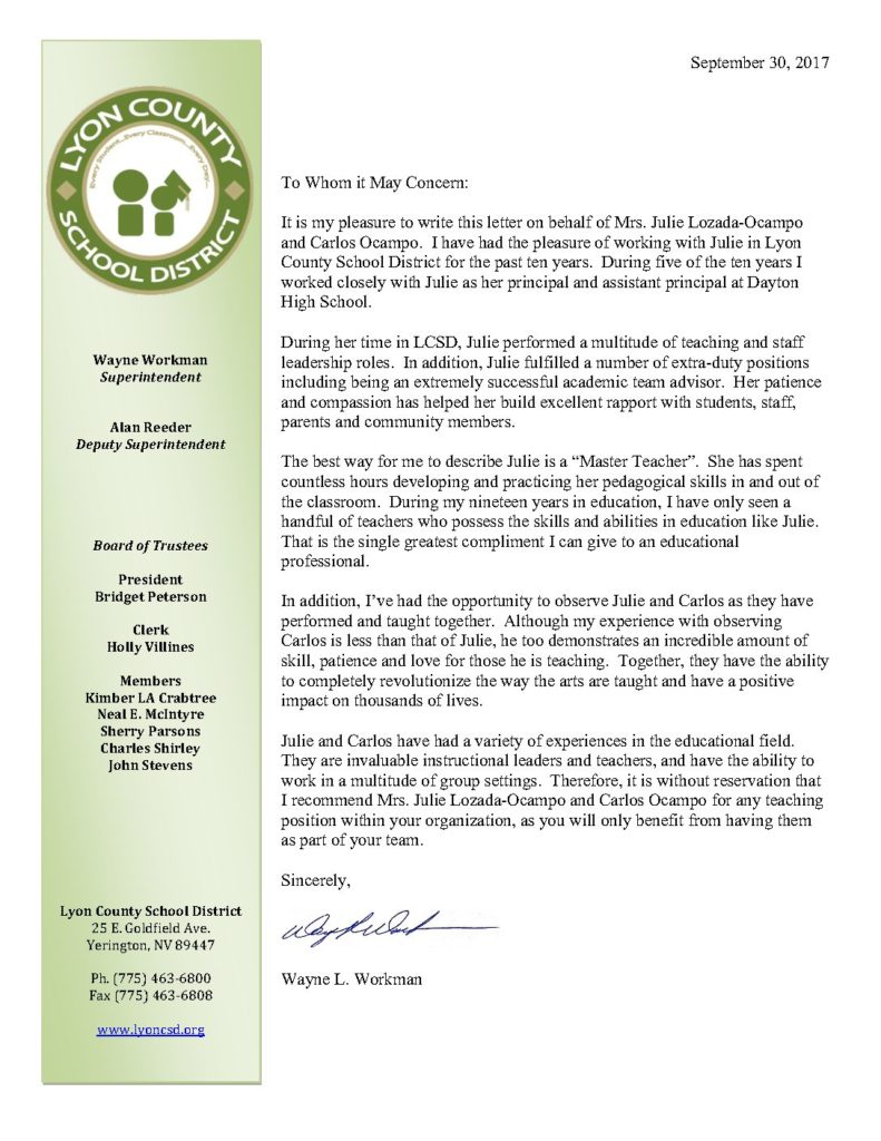 Letter of Rec LCSD Workman